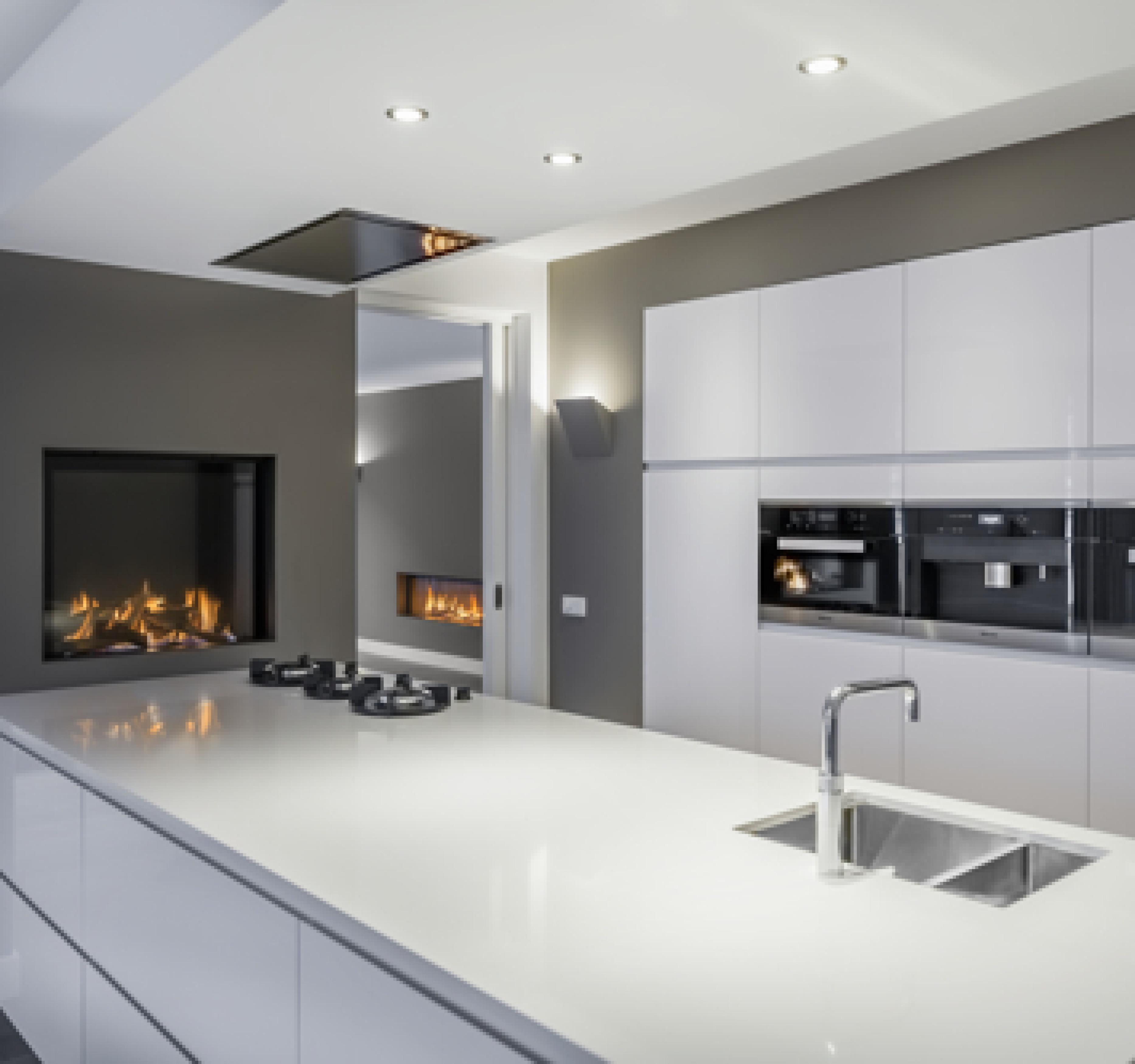 Een gesloten gashaard kan in vele woningen worden ge nstalleerd - Keuken open of gesloten ...