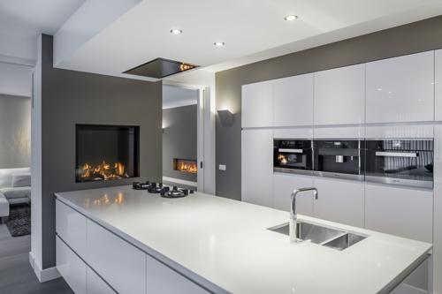 Tibas gesloten gashaard boley keuken tibas haarden kachels - Open haard keuken photo ...